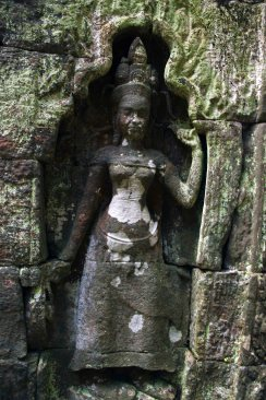 Likely to be an Apsara, a celestial spirit of the clouds and waters