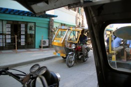 Tuk tuk in Philippines.