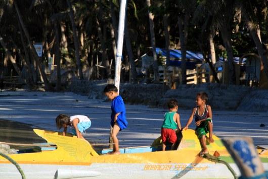Kids having simple fun
