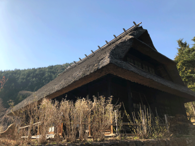 Up close shot of a thatched house (Photo Credit: Yvonne Z.)