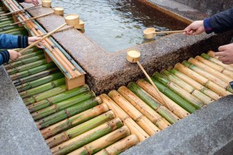 Cleansing ritual before you enter the shrine