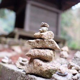 The stacked stones reveal a tragic story behind its significance