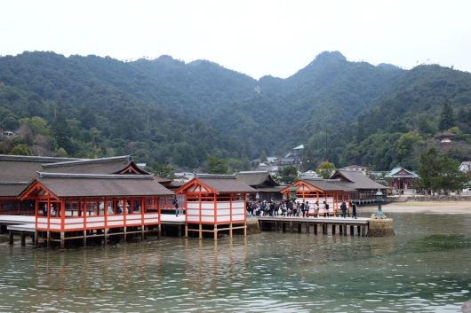 Itsukushima Shrine main complex.