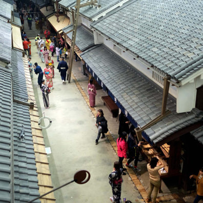 Recreated Osaka town from Osaka Museum of Living and Housing