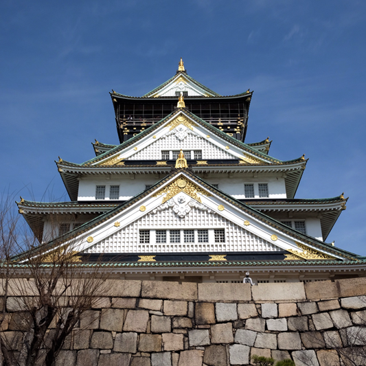 Osaka Castle looking dignified.