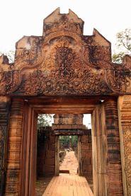 Entrance of Banteay Srei.